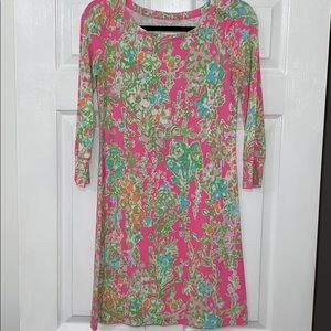 Lilly Pulitzer Boatneck Long Sleeve T-shirt Dress
